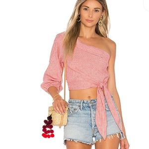 Free People 'Get Down' Top in Red